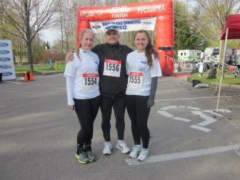 April 2012 - Ran my first 5K! (Left.)